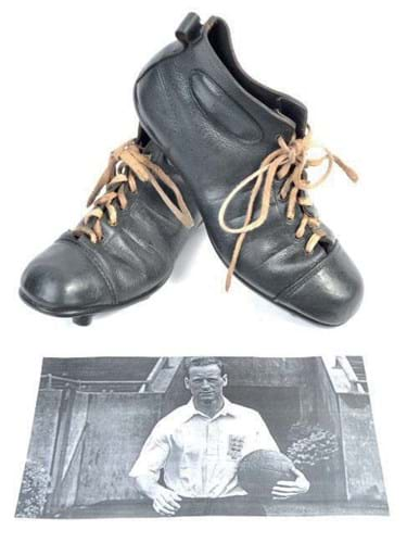 Boots of football legend Tom Finney score at East Bristol Auctions